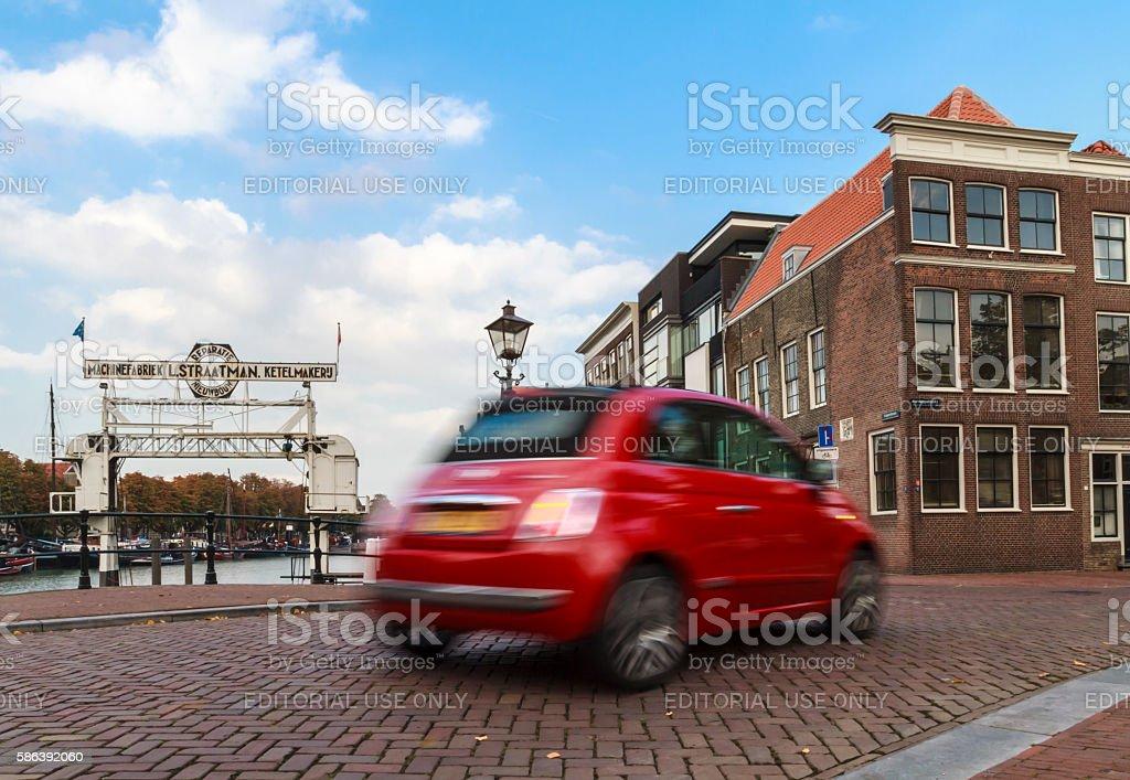 Shiny red Fiat stock photo