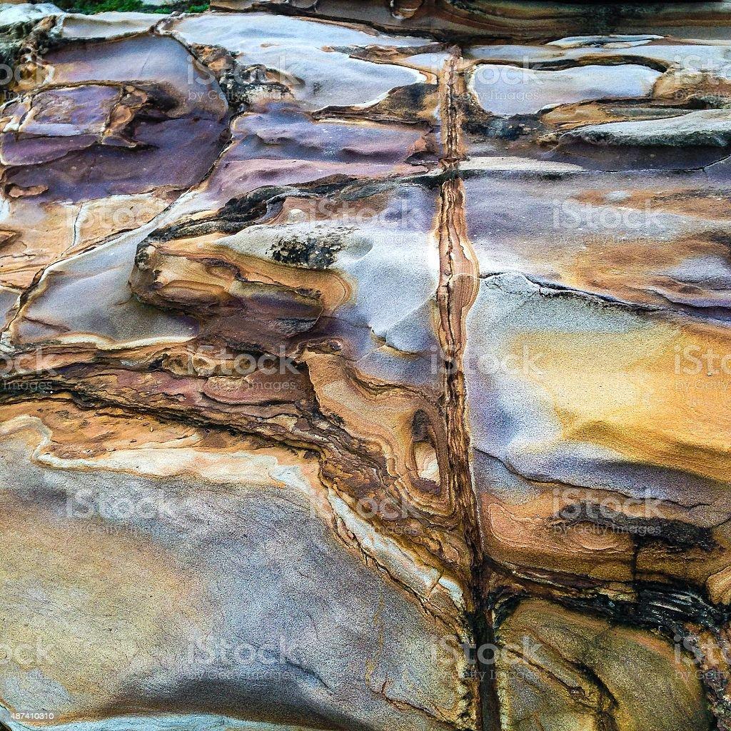 Shiny rock surface stock photo