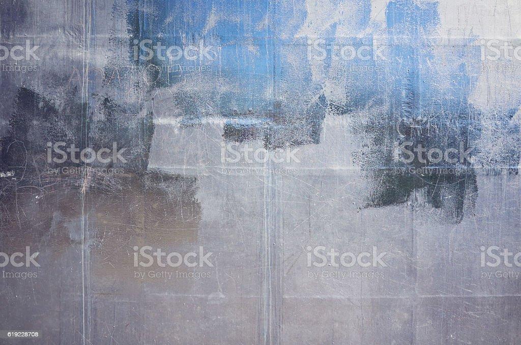 Shiny silver aluminum sheet metal stock photo