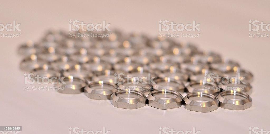 Shiny silver finished machine washer royalty-free stock photo