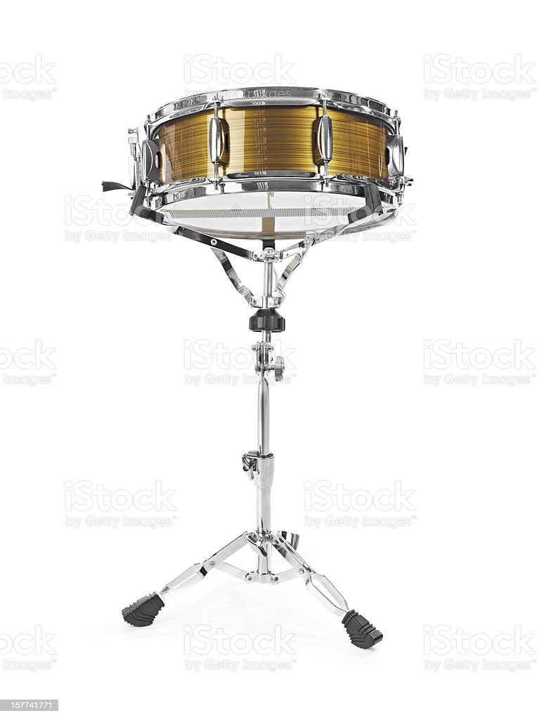 Shiny snare drum stock photo