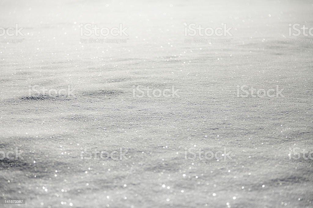 Shiny Snow - Horizontal image stock photo