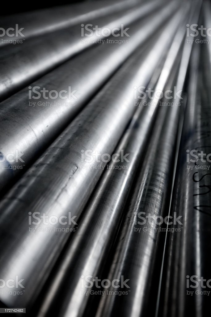Shiny Tubes stock photo