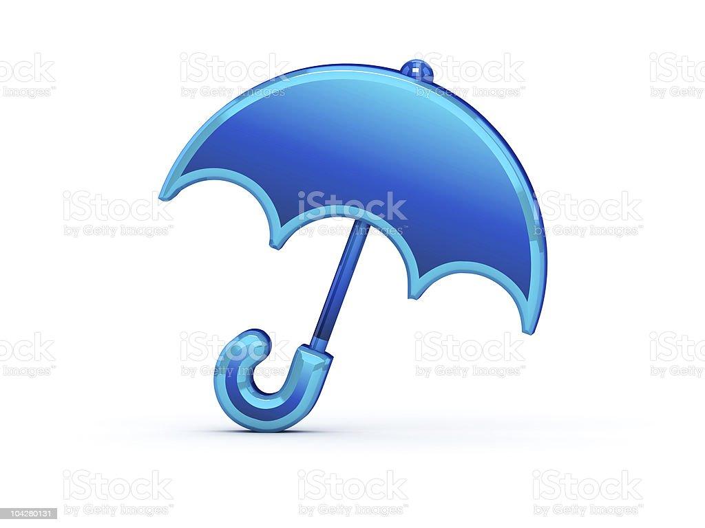 Shiny umbrella icon stock photo