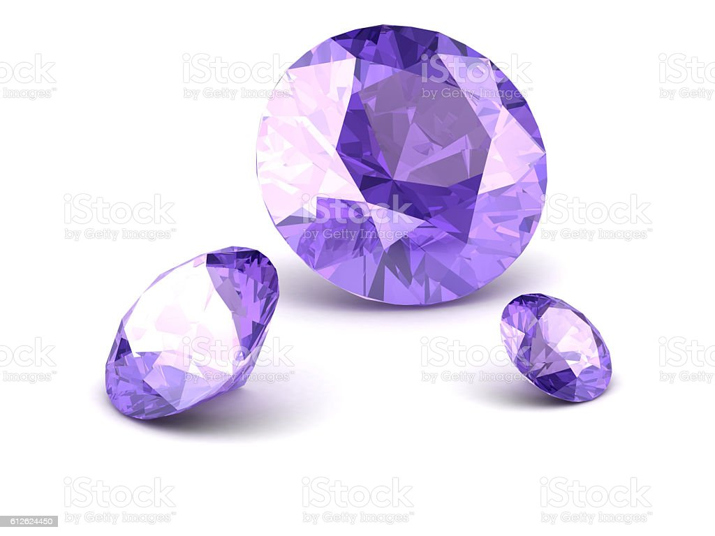Shiny white amethyst illustration stock photo