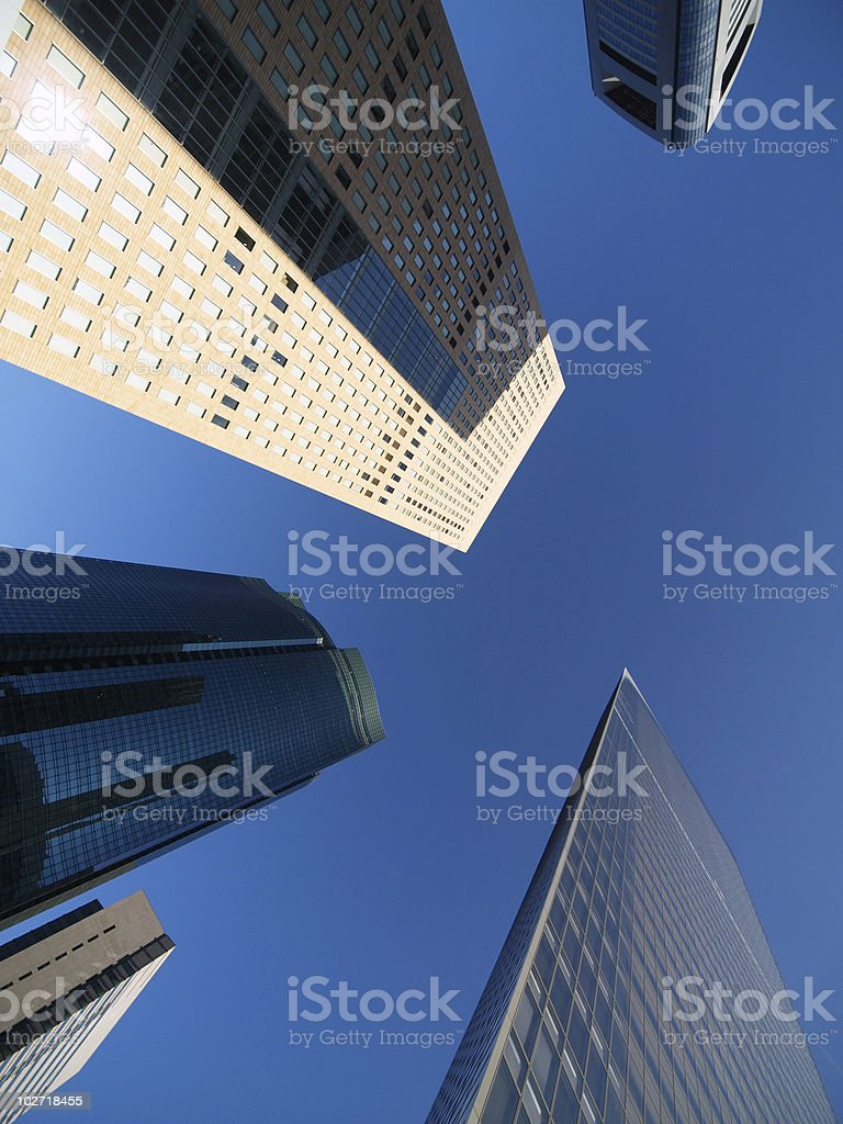 Shiodome's skyscrapers, Tokyo, Japan stock photo