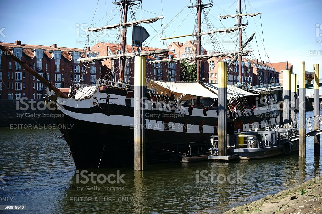 Ship Admiral Nelson stock photo