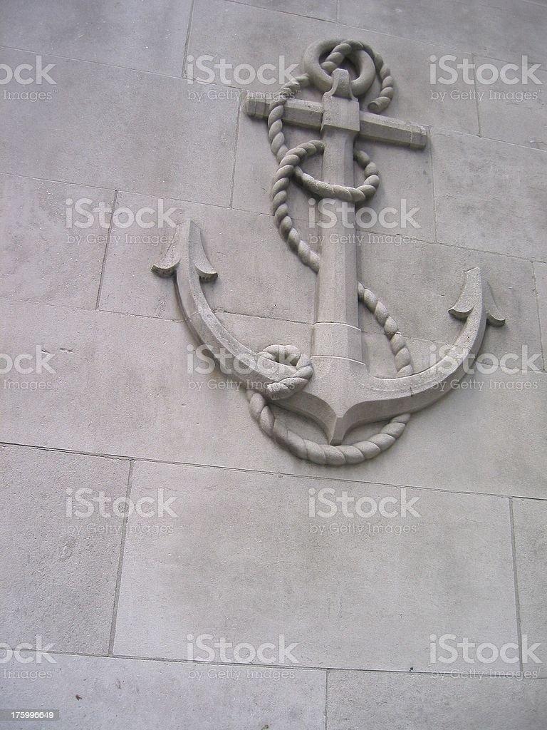 Ship Anchor royalty-free stock photo