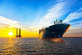 Ship and Oil Platform