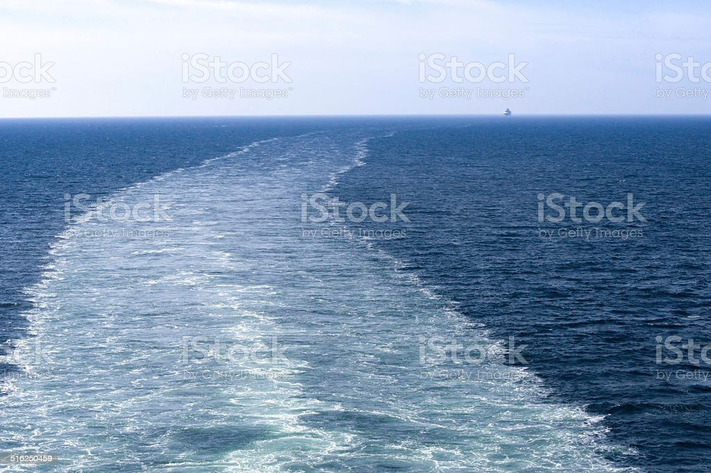 Ship and  water bloom stock photo