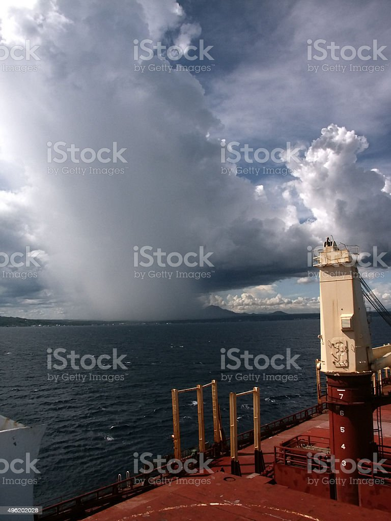 ship arriving to Batangas / Philippines stock photo