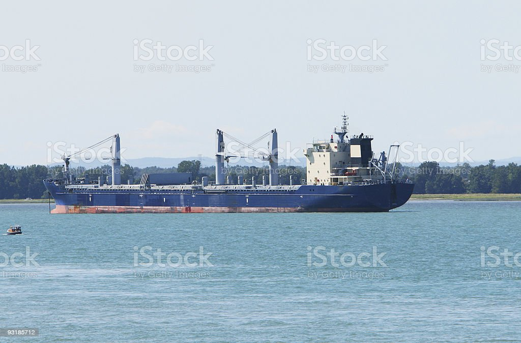 Ship at anchor royalty-free stock photo