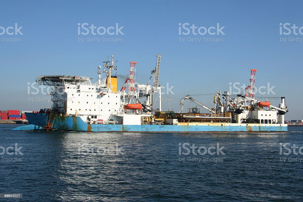 Ship at port royalty-free stock photo