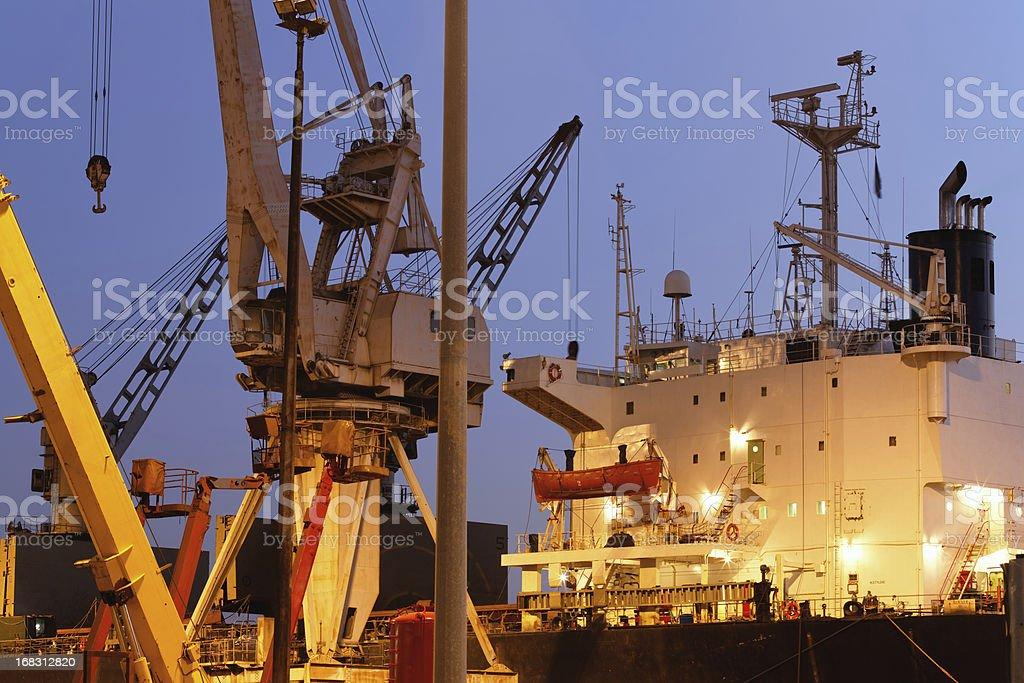Ship at repair facilities royalty-free stock photo