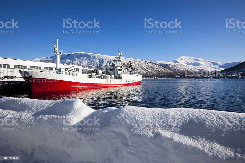 Ship at Tromso royalty-free stock photo