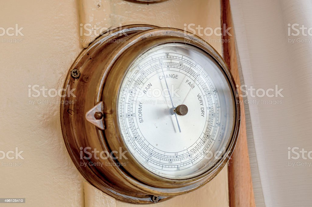 Ship Barometer stock photo