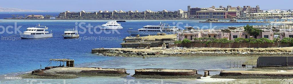 Ship bay royalty-free stock photo