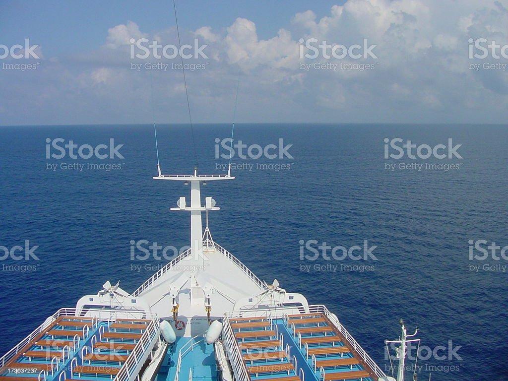 Ship Bow at Sea royalty-free stock photo