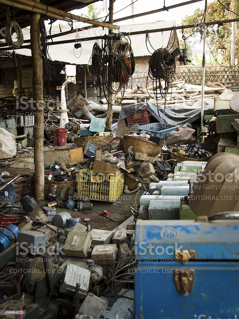 Ship breaking and Recycling industry in Bangladesh stock photo