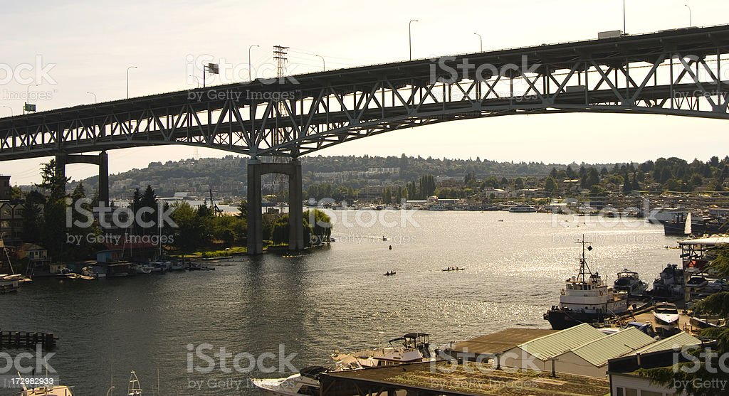 'Ship canal bridge in Seattle, WA' stock photo