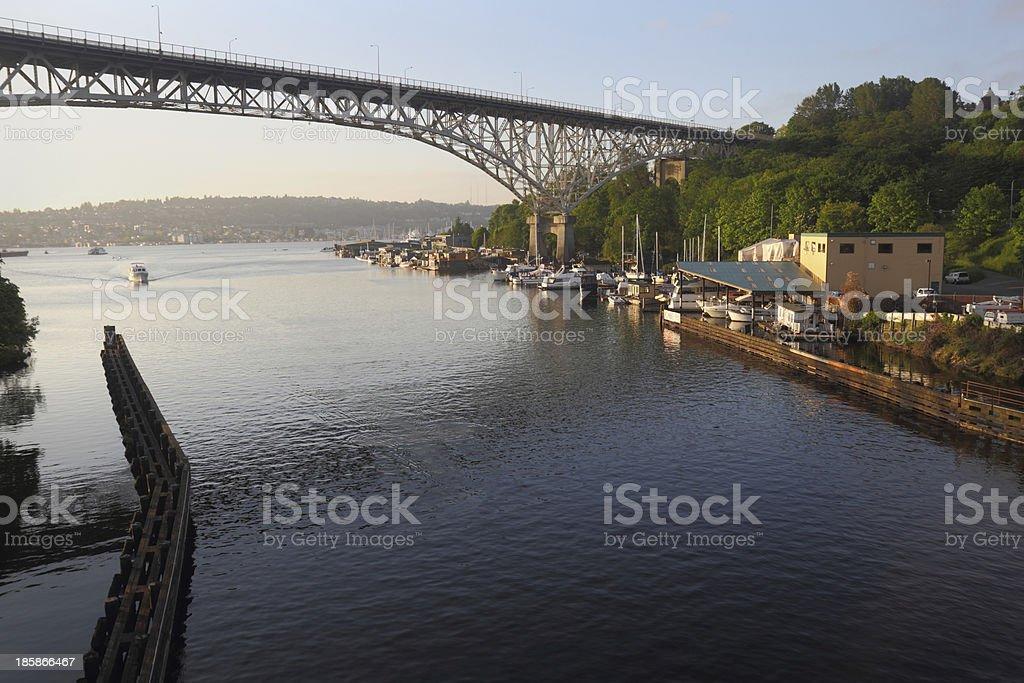 Ship Canal, Seattle, Washington stock photo