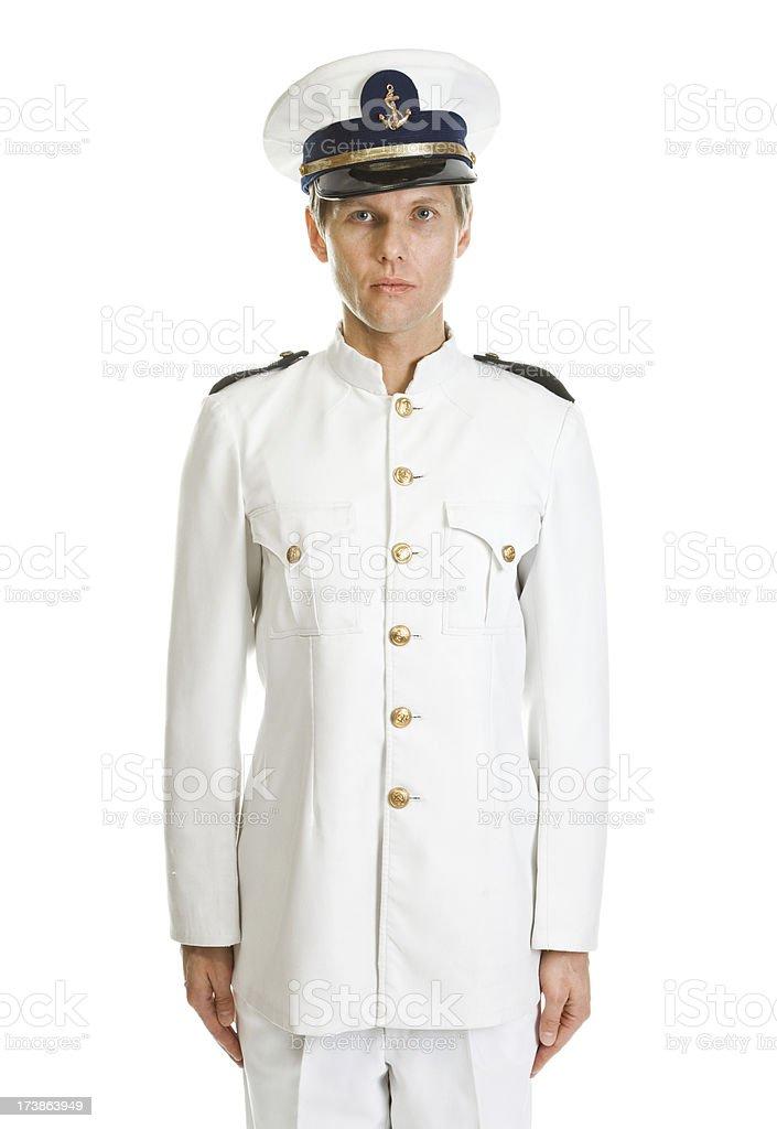 Ship captain royalty-free stock photo