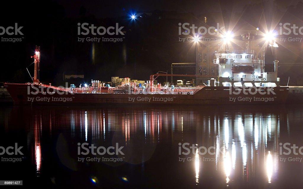 ship cargo in port stock photo