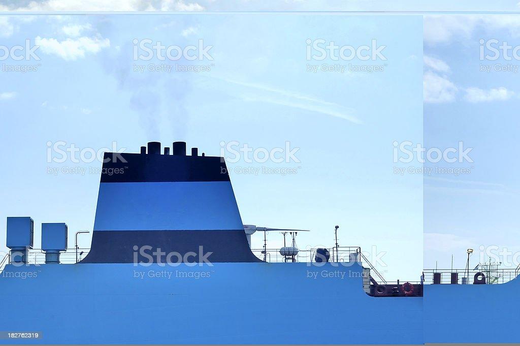 Ship chimney royalty-free stock photo