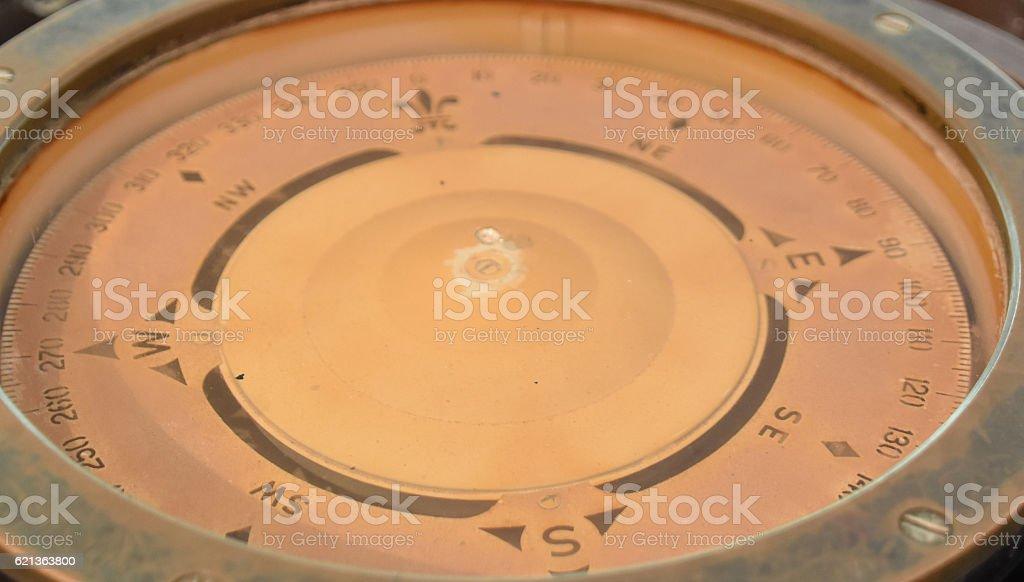 Ship compass stock photo
