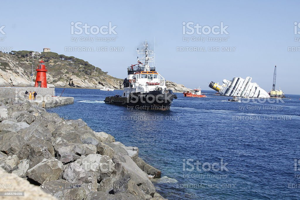Ship Concordia royalty-free stock photo