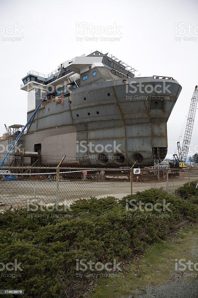 Ship Construction royalty-free stock photo