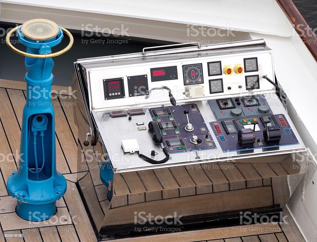 Ship Control Panel stock photo