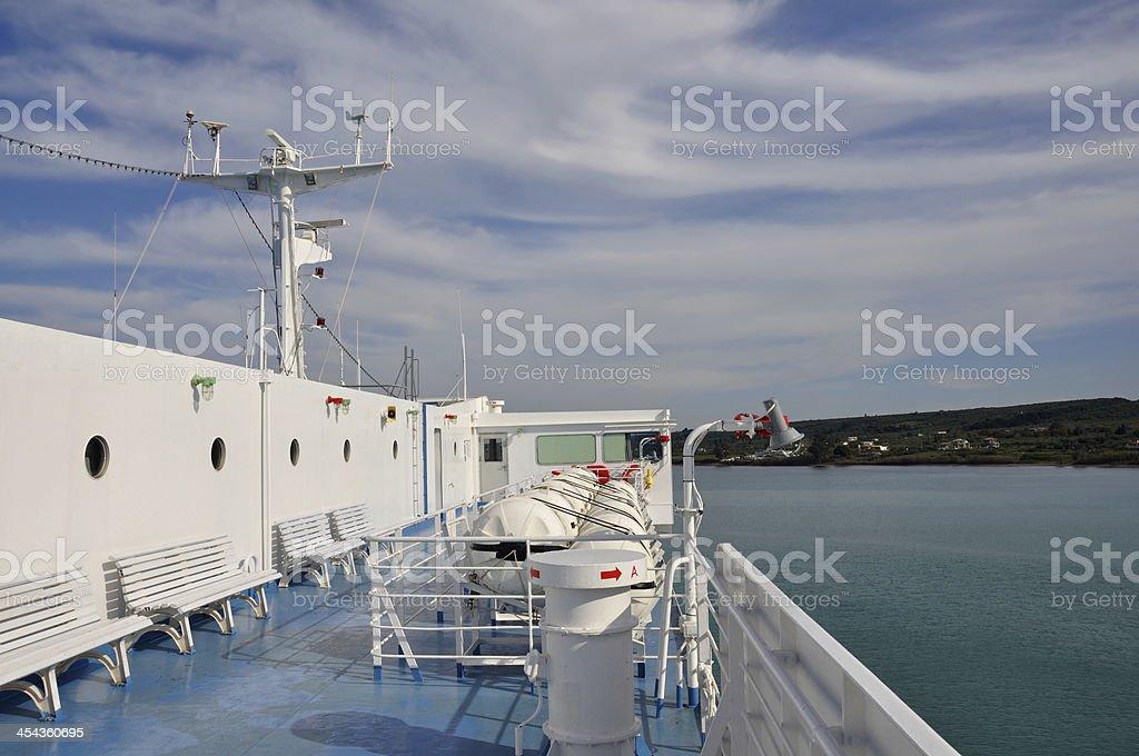 ship deck horizon royalty-free stock photo