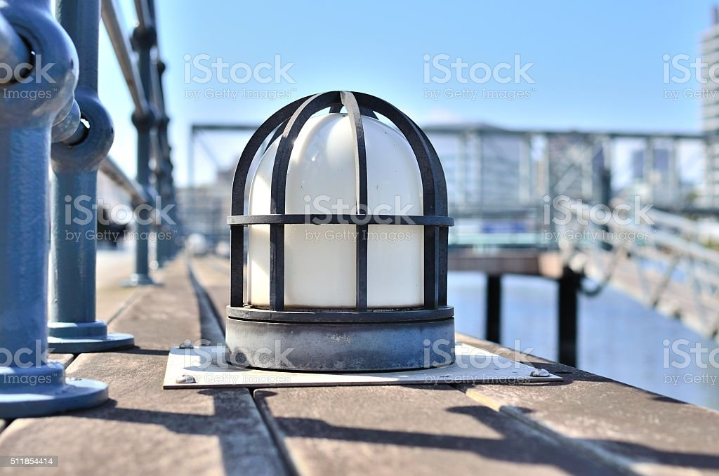 ship deck lamp type lighting equipment stock photo