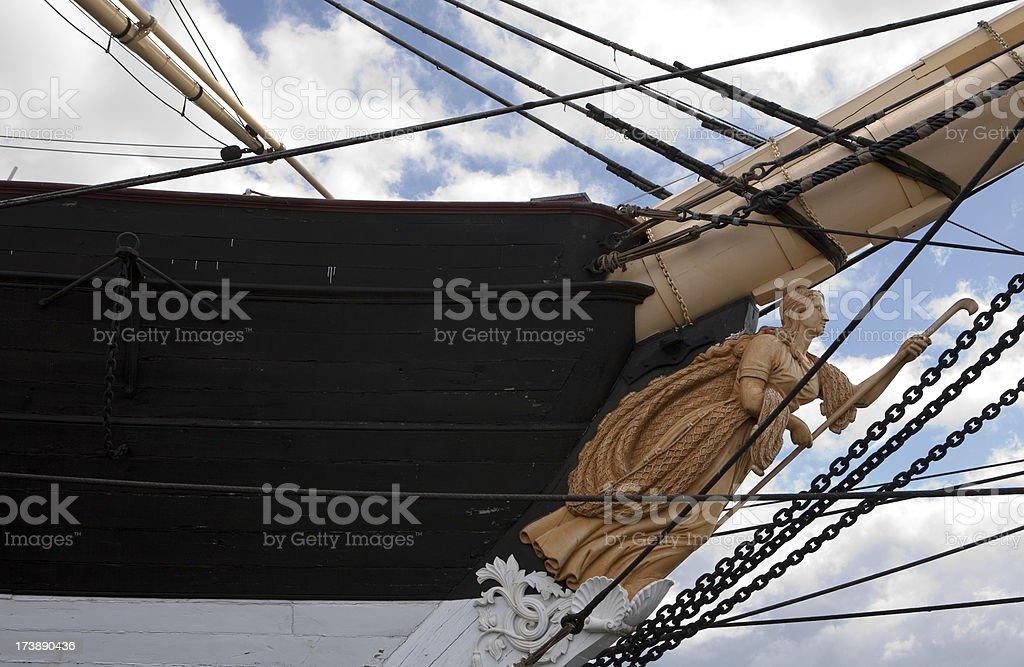 Ship details stock photo