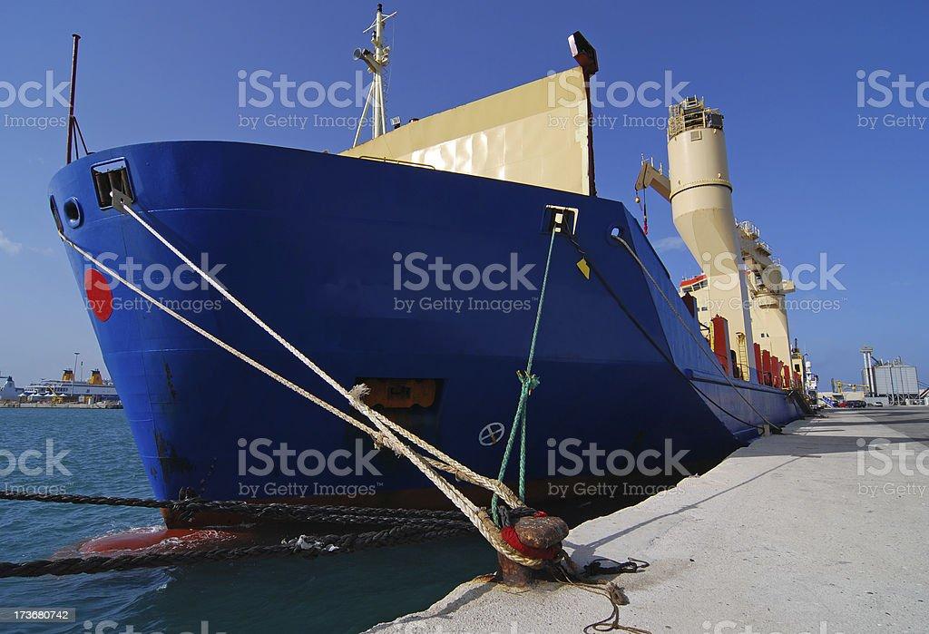 ship docking royalty-free stock photo