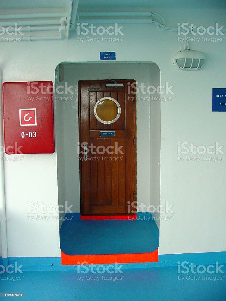 Ship Door royalty-free stock photo