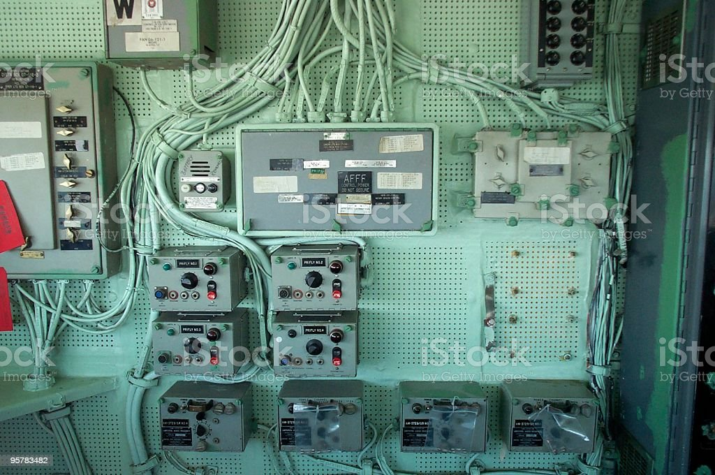 Ship Electrical Panel royalty-free stock photo