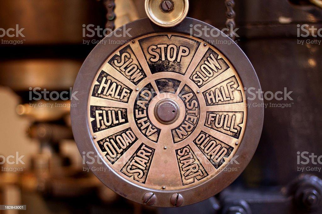 Ship Engine Controls stock photo
