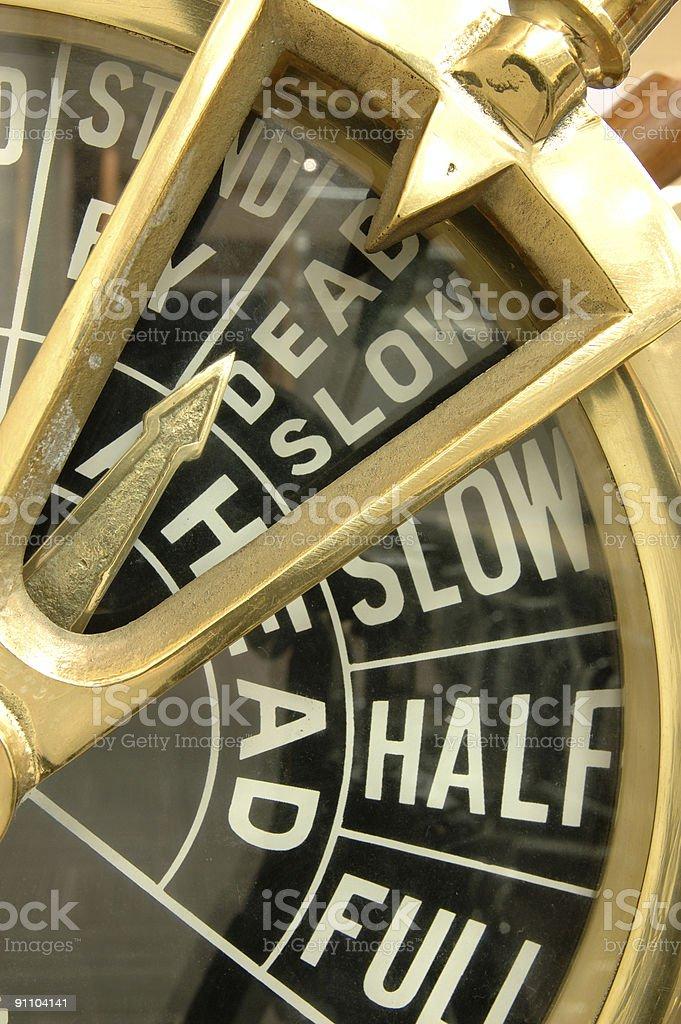 Ship engine telegraph stock photo