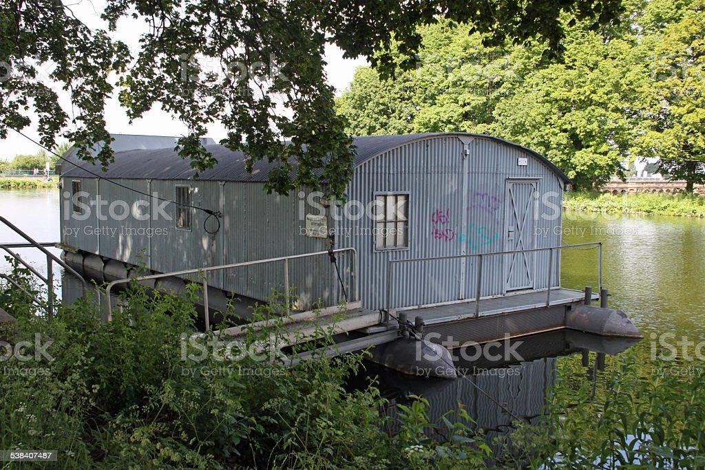Ship garage stock photo