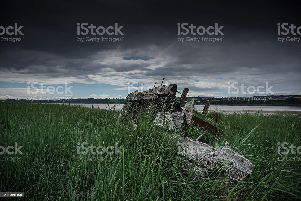 Ship Graveyard stock photo