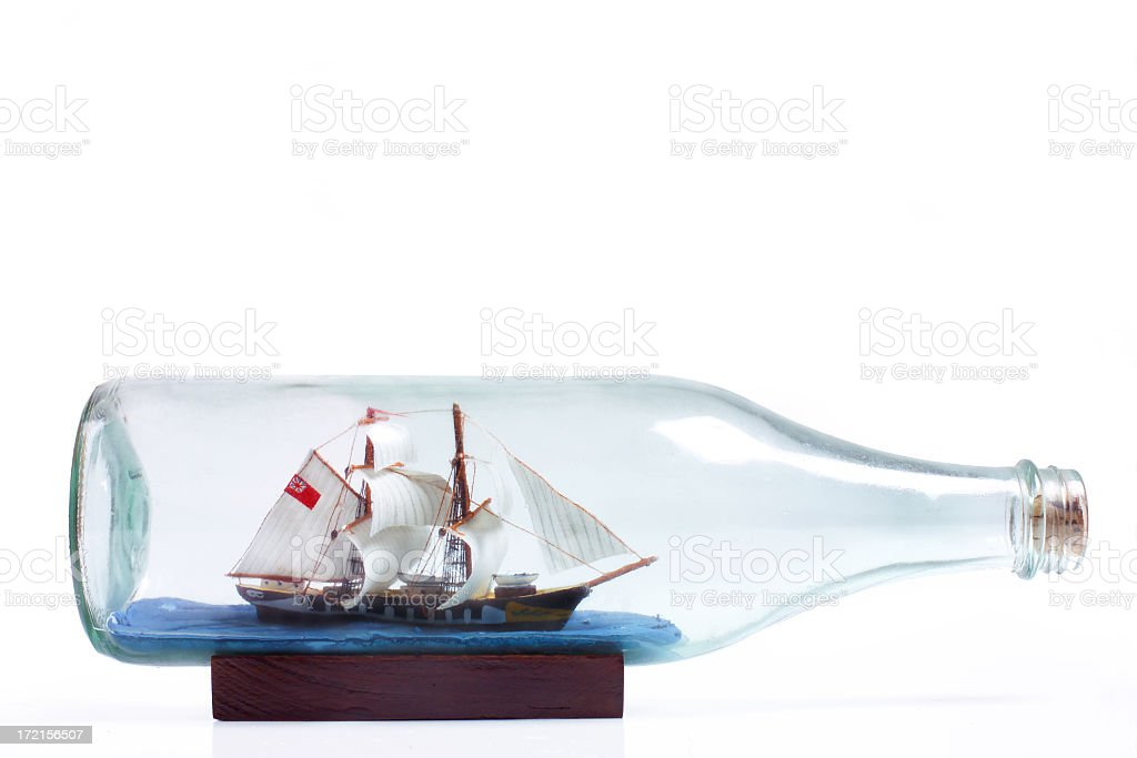 ship in a bottle royalty-free stock photo