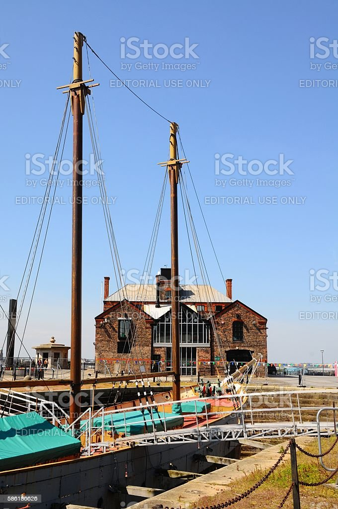 Ship in Canning Dock, Liverpool. stock photo