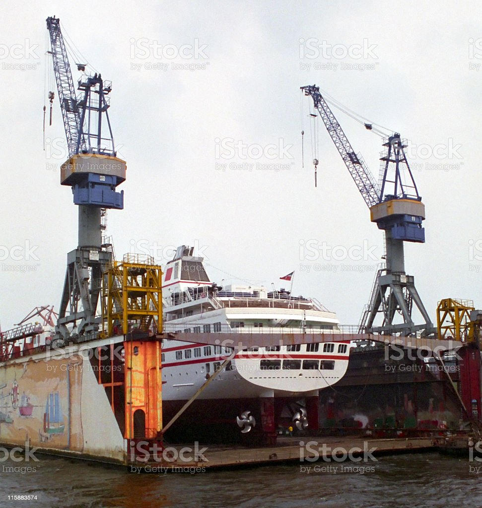 Ship In Dry Dock royalty-free stock photo