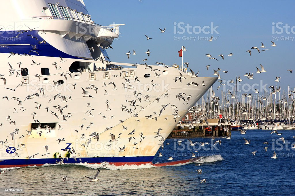 Ship in port royalty-free stock photo