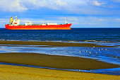 Ship in Punta Arenas Strait of Magellan, Chilean Antarctic Patagonia
