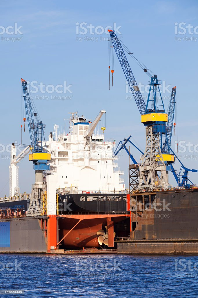 Ship in the dock stock photo