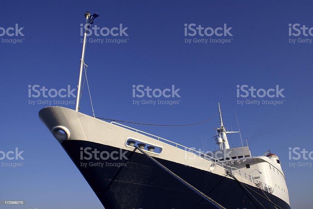 Ship in the harbor on Mediterranean Sea royalty-free stock photo