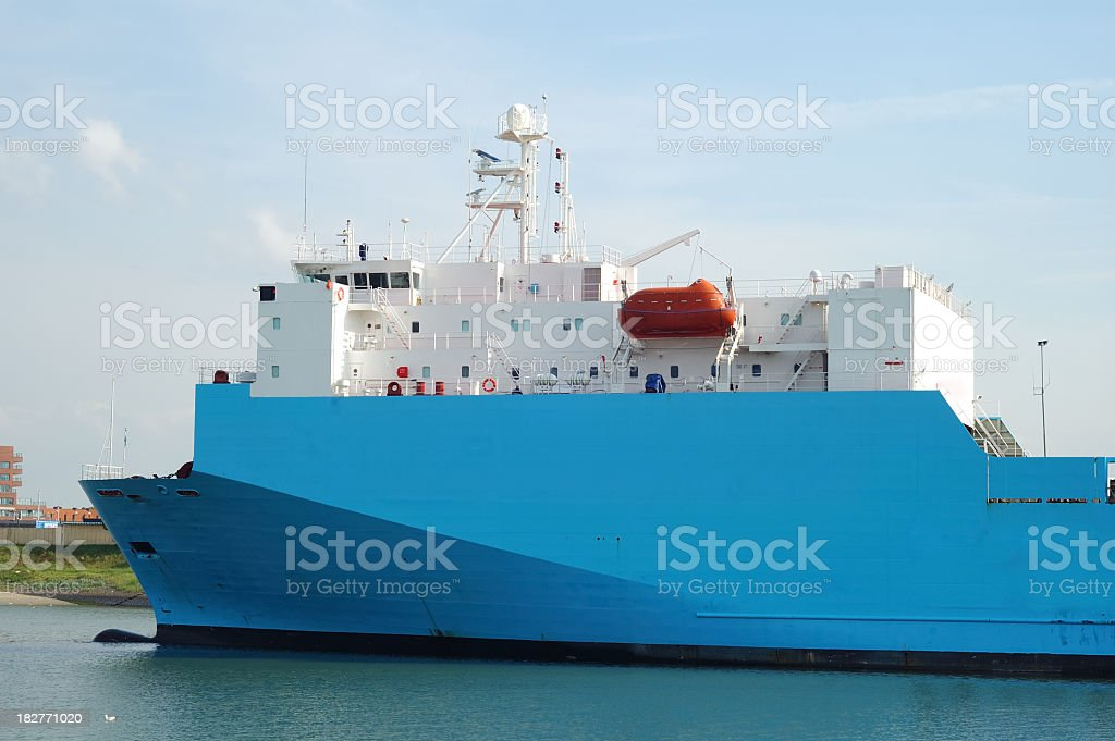 Ship in the harbor royalty-free stock photo